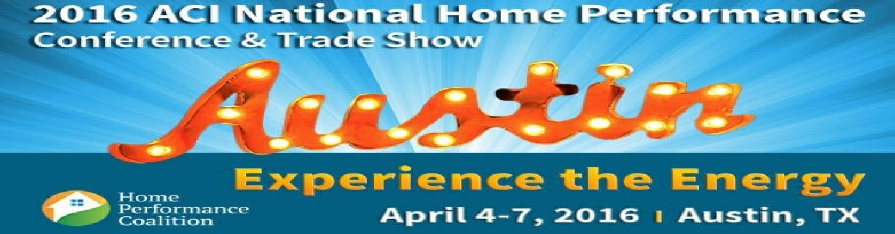 2016 ACI National Home Performance Conference & Trade Show